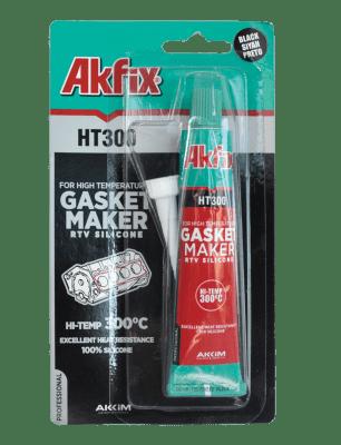 Термо силикон 300° черен - Akfix