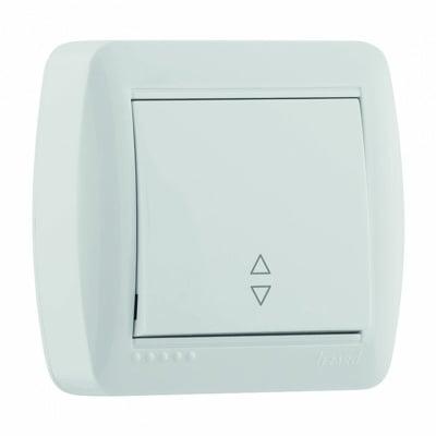 Единичен девиаторен бял ключ 6 серия ДЕМЕТ LEZARD 711-0200 -105