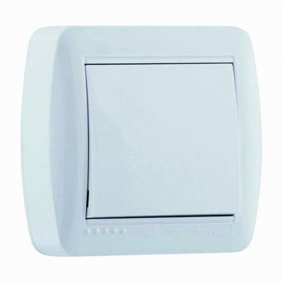 Единичен еднополюсен бял ключ 1 серия ДЕМЕТ LEZARD 711-0200 -100
