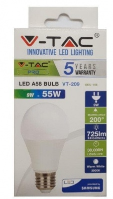 LED крушка с чип SAMSUNG V-TAC