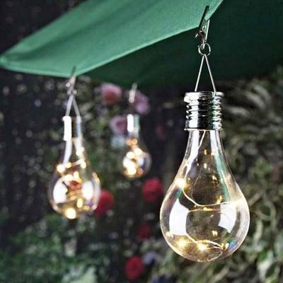 Соларна лампа Крушка-различни цветове