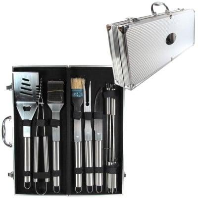 Комплект за барбекю 10 части в метален куфар