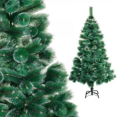 Изкуствена елха с бели връхчета - 120 см.