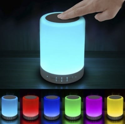 Настолна лампа със зарядно и 7 цвята