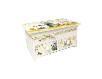 Дървена кутия за бижута-Лавандула