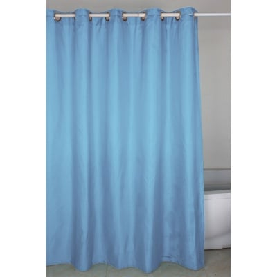 Завеса за баня с вградено окачване - синя InterCeramic