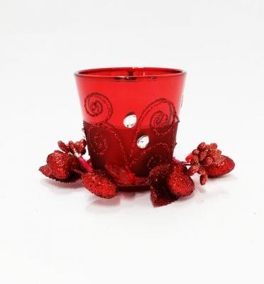Коледен червен свещник