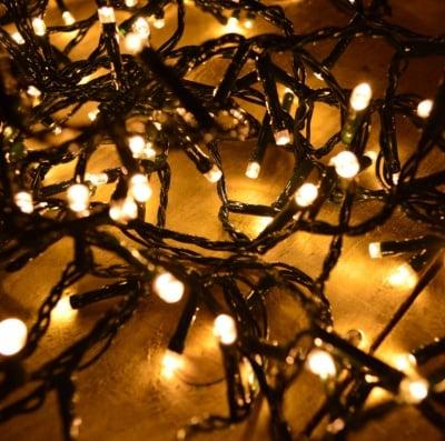 LED Лампички тип гирлянд 120 бр. за външна употреба топло бяла светлина - Enigma lights