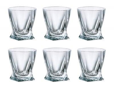 Комплект чаши за уиски Quadro Bohemia