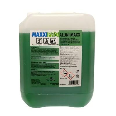 Универсален дезинфектант за твърди и полутвърди повърхности ALUNI MAXX - без хлор