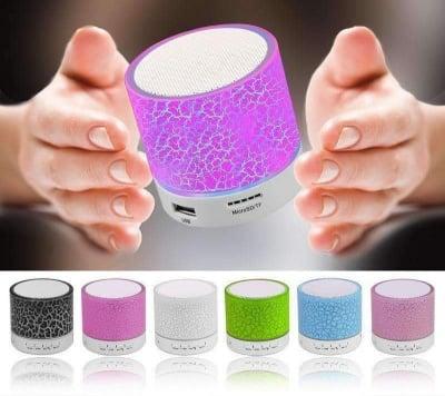 Светеща преносима блутут колонка  - различни цветове Mini