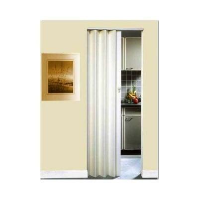 PVC врата тип Хармоника монохром - бяла Solat Intesa