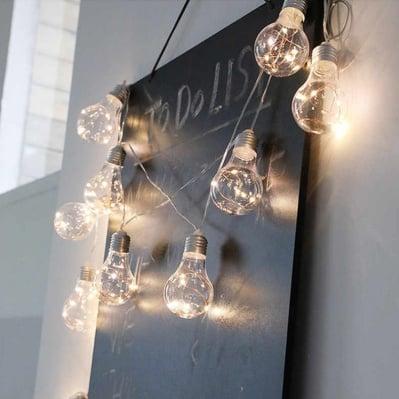 Коледни LED лампички Крушки за вътрешна употреба - студено бяла светлина