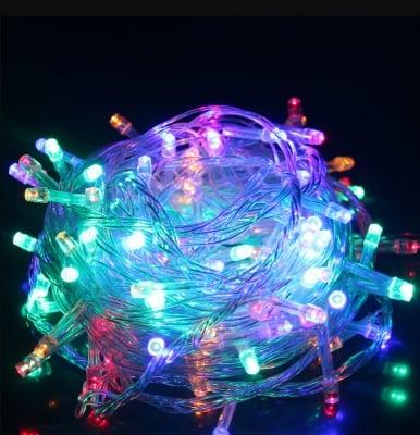 Коледни лампички тип гирлянд 60 бр. разноцветни