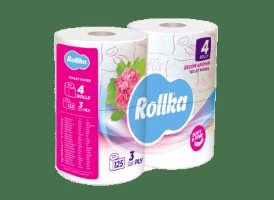 Тоалетна хартия Rollka БЯЛА - 4 броя