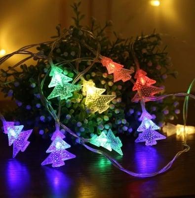 Коледни лампички Елхи разноцветни