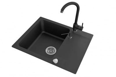 Комплект мивка и смесител SELEBES- SBLA713T LAVEO