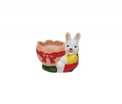 Керамична фигура Зайче с яйце