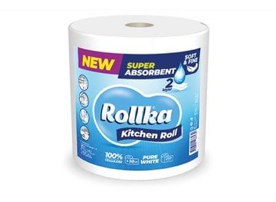 Домакинска хартия Rollka - бяла / 500 гр.