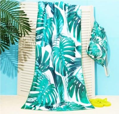 Комплект плажна хавлия и чанта Тропик