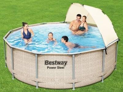 Сглобяем басейн със сенник 396 x 107 см Bestway