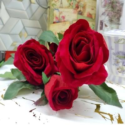 Изкуствено цвете  РОЗА 90 см