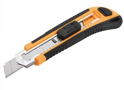 Макетен нож TOLSEN ABS TRP 18 мм с 3 резервни ножчета