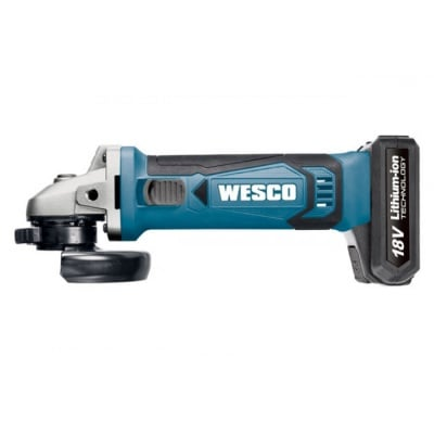 Ъглошлайф WESCO WS2941  18V LiIon 2Ah  115мм  8800 min-1