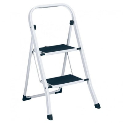 Домакинска метална стълба с 2 гумирани стъпала