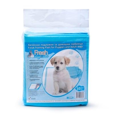 Хигиенни подложки Fresh за кучешка тоалетна с ФЕРОМОНИ И СТИКЕРИ - 33 x 45 см 10 бр. в пакет