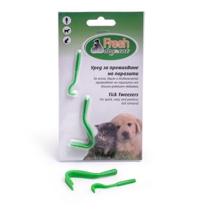 Пластмасов уред FRESH GREEN за премахване на паразити от кучета и котки