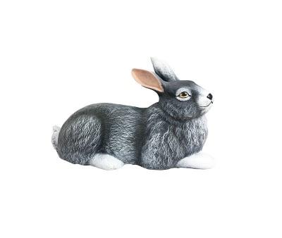 Керамична фигура -Легнало зайче