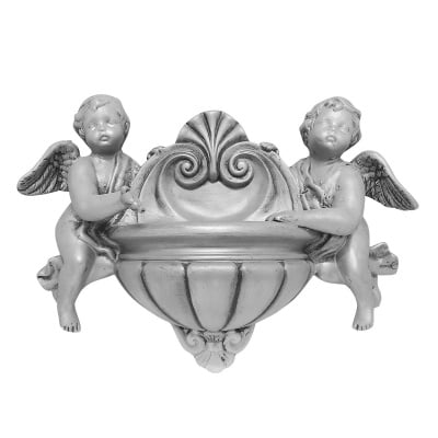 Градинска фигура  - стенна саксия, ангели