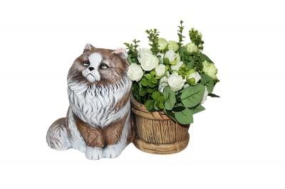 Керамична кашпа  -Ангорско коте