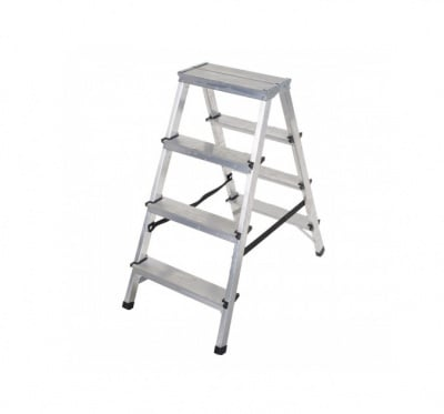 Двустранна алуминиева стълба 2x4 Drabest