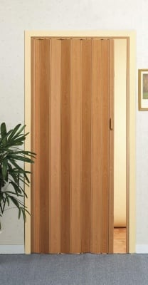 PVC врата тип Хармоника монохром - махагон Solat Intesa