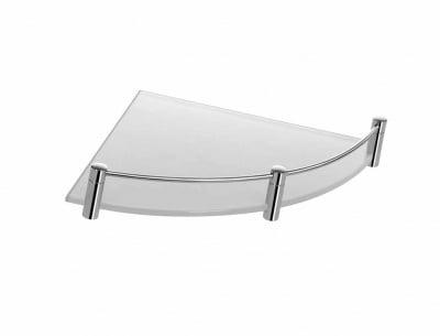 Ъглова стъклена матирана полица за баня Kapitan