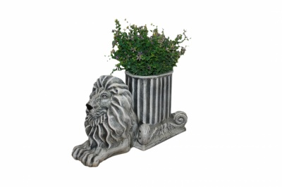 Керамична кашпа-Лъв