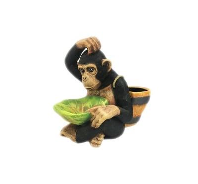 Керамична фигура -Маймуна с кашпа