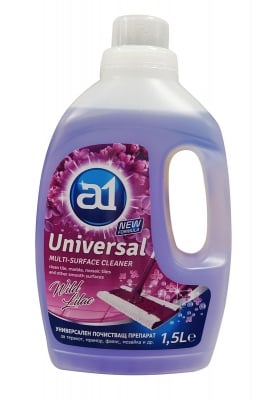 Универсален почистващ препарат за под  A 1 -  1.5 л -  лилав