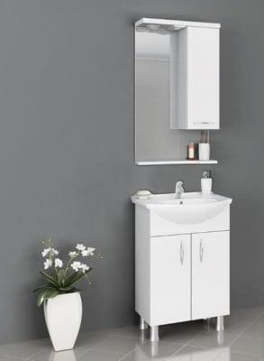 Комплект шкаф с мивка и огледало за баня Перла Forma Vita
