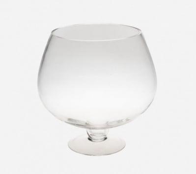 Стъклена ваза със столче