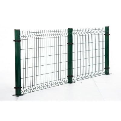 Кол с планка  за оградно пано H150