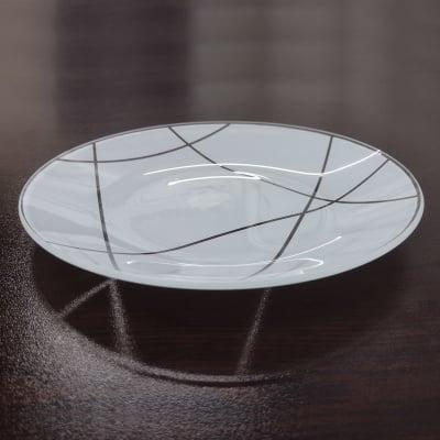Салатена чиния - бяла
