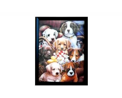 Картина с триизмерен ефект-Кучета