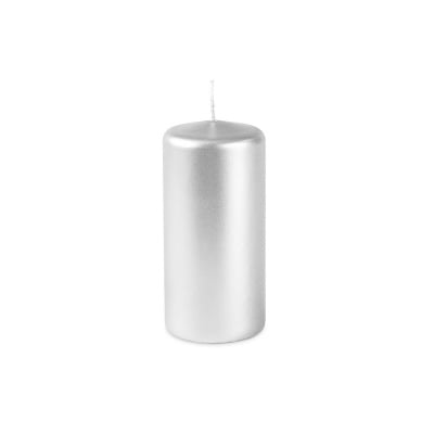 Свещ пилон - сив металик