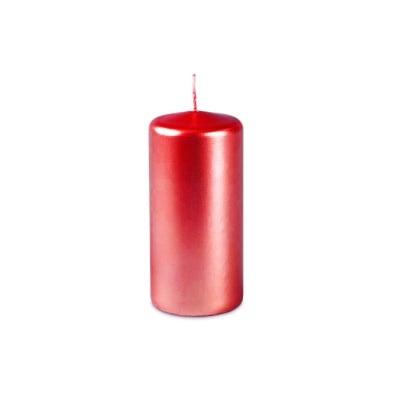 Свещ пилон - червен металик