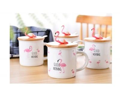 Чаша с капак Фламинго
