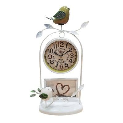 Meтален часовник с декорации