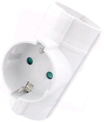 Адаптер 3 гнезда T-образен за контакт тип шуко
